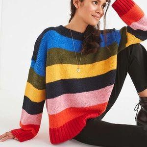 Urban Outfitters Rainbow Kari Oversized Sweater